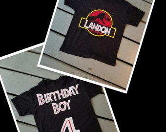 Custom Jurassic World Inspired Birthday Shirt Personalized Park Shirts