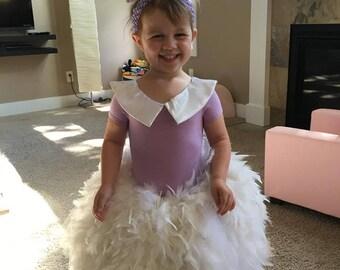 43931a65415 Girls Daisy Duck inspired Dress  Daisy Duck costume for girls  Daisy duck  feather dress  Disney character halloween costume for girls