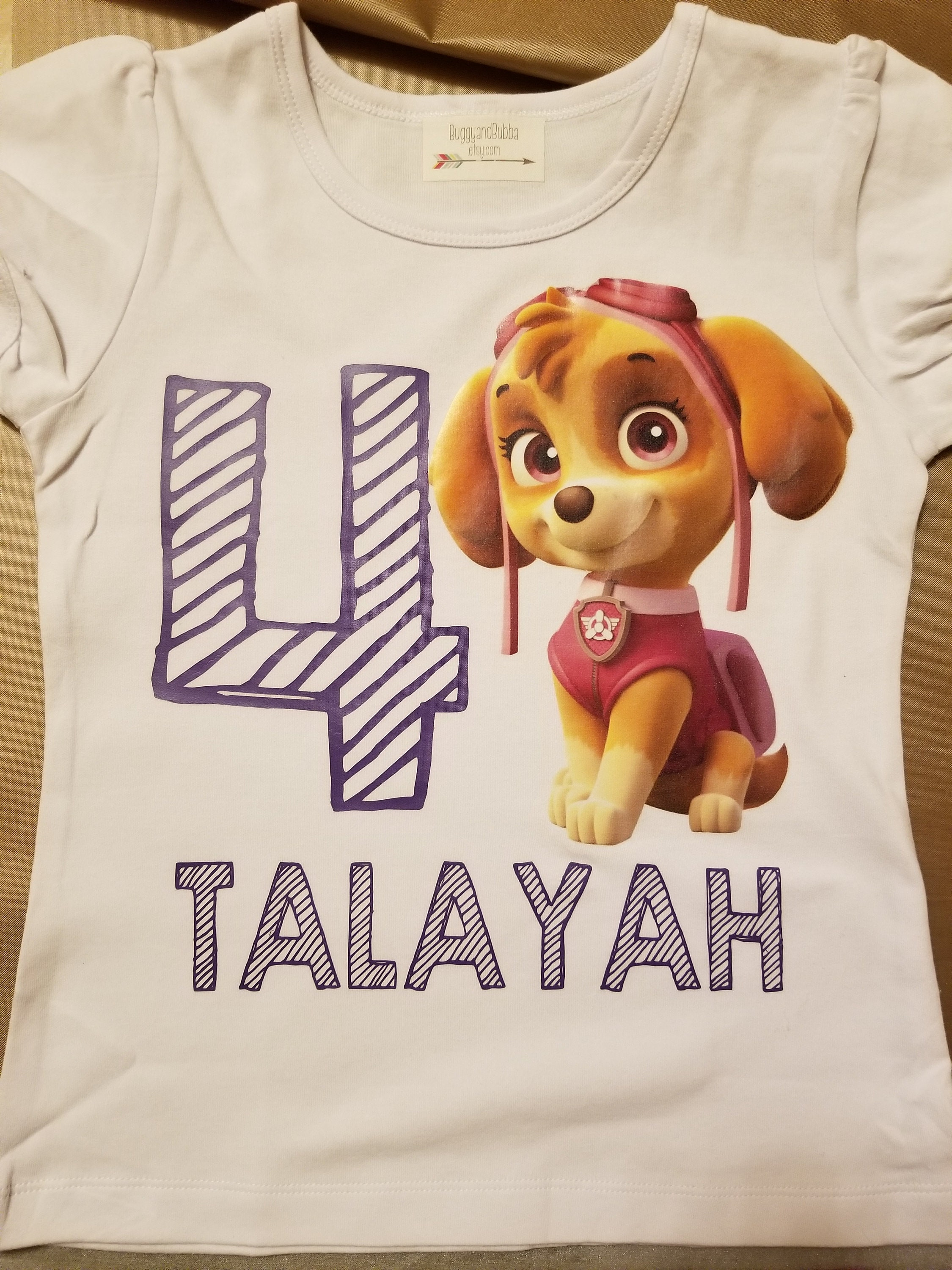 Custom Paw Patrol Inspired Birthday Shirt Toddler Girls Outfit First