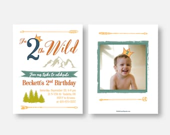 Two year old invites etsy birthday inviation into the wild where the wild things are second birthday 2nd birthday 2 year old two year old birthday invite filmwisefo