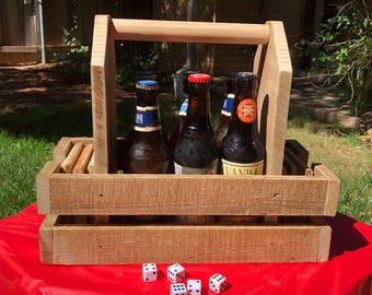 Groomsman Gift, Rustic Wood Beer Box, Beer Holder, Beer Caddy, Beer Carrier, Wood Beer Carrier, Personalized Wood Beer Box, Farmhouse Decor