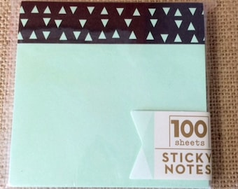 Target One Spot Mint Green and Black Geometric Sticky Notes Dollar Spot
