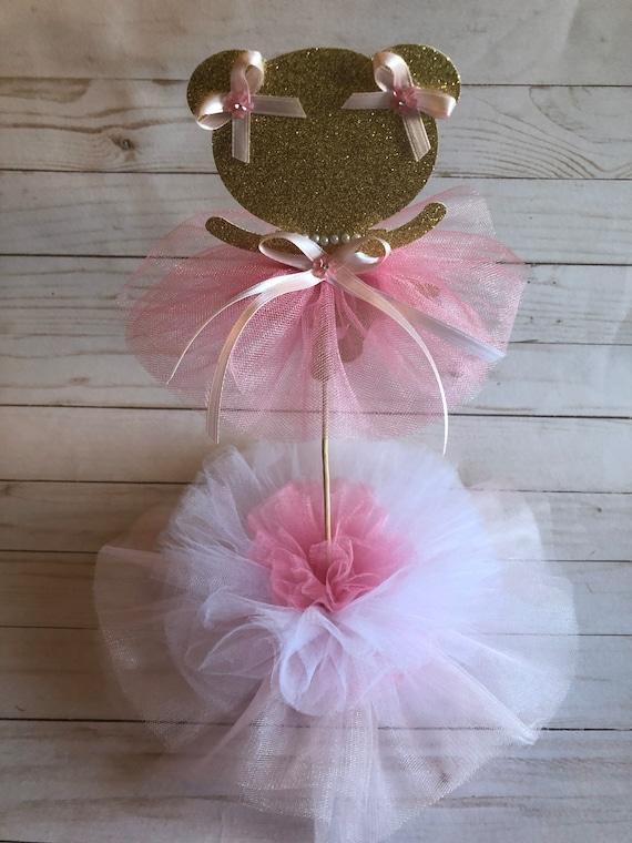 Ballerina Tutu Centerpiece-Glitter ballerina picks-ballerina picks-Tutu centerpiece-Ballerina birthday theme-Ballerina theme-tutu theme-tutu