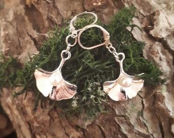 Silberohrhänger Feenhafte Blätter 925er Sterlingsilber