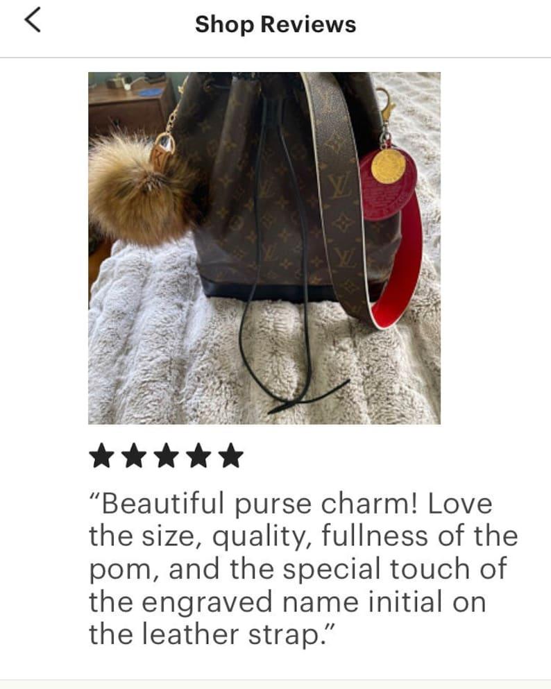 Zipper Trim Personalized Red Fox Faux Fur Pompom Bag Charm