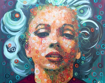 Tears, acrylic on canvas 90 x 90 x 3 cm.