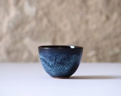 TAMAGO. 2 Pottery Tea Cups, Special Glaze. Ceramic Small Cup, Sake And Tea