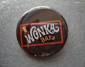 Wonka Bar Pinback or Magnet