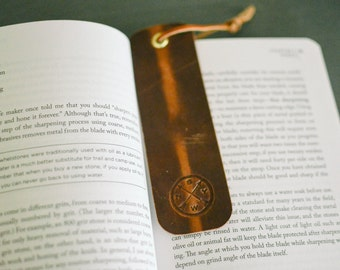 Bookmark Horween Full Grain Leather Brown