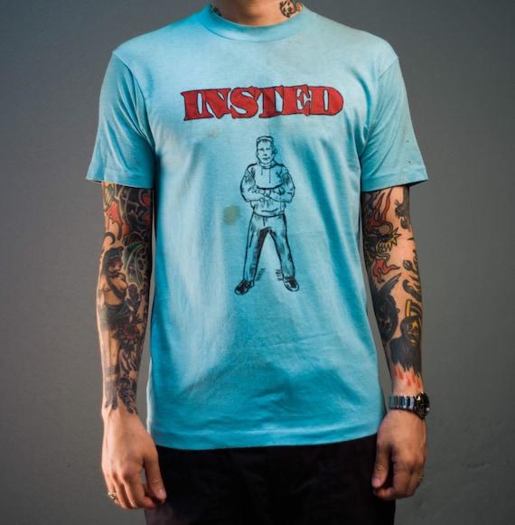 Vintage 80's Instead Stenciled T-Shirt