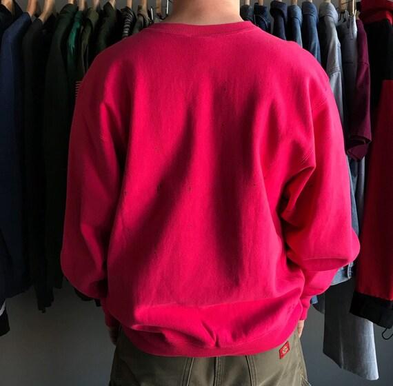 Vintage 80's Champion Reverse Weave Pink Sweatshi… - image 2