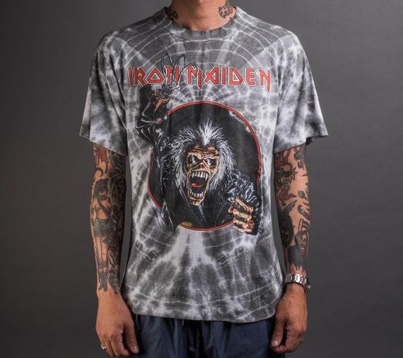 Vintage 1990 Iron Maiden Tie Dye T-Shiry