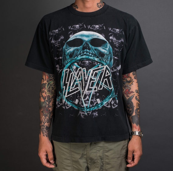 Vintage 90's Slayer Boot T-Shirt