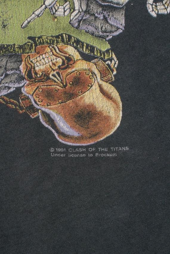 Vintage 1991 Clash Of The Titans Tour T-Shirt - image 3