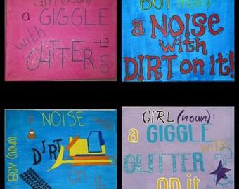 Boy/Girl customized sign