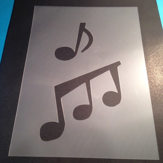 music notes stencil template card making plaque design mylar etsy