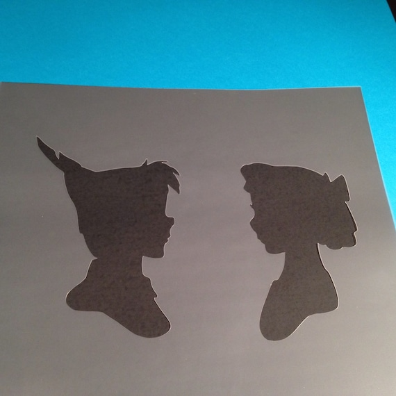 Peter Pan Flying Charactor Mylar Airbrush Painting Wall Art Crafts Stencil...