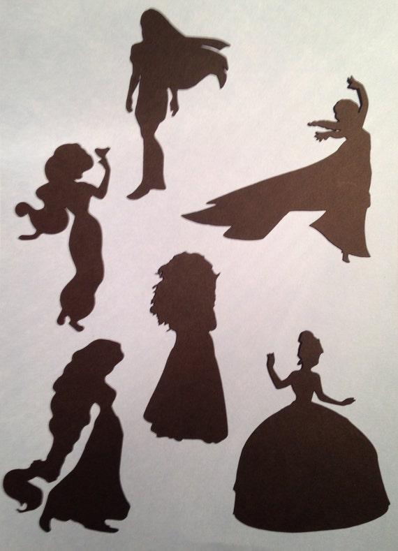disney princess stencils craft silhouette girls bedroom etsy