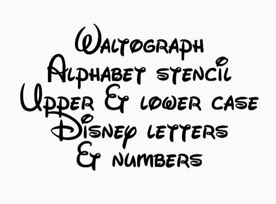 Disney waltograph stencil font full alphabet upper and lower etsy image 0 spiritdancerdesigns Images