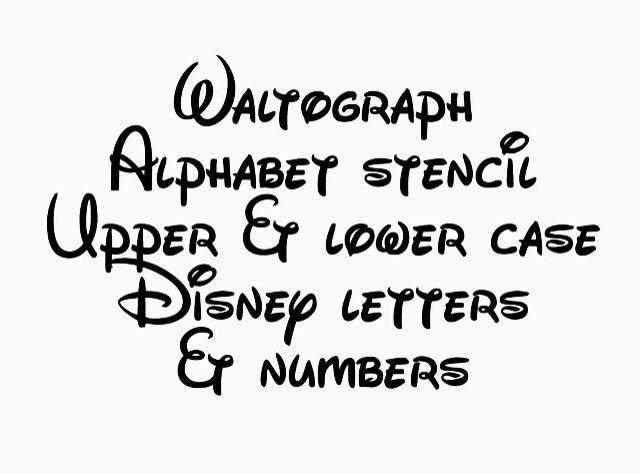 Disney Waltograph Stencil Font Full Alphabet Upper And Lower