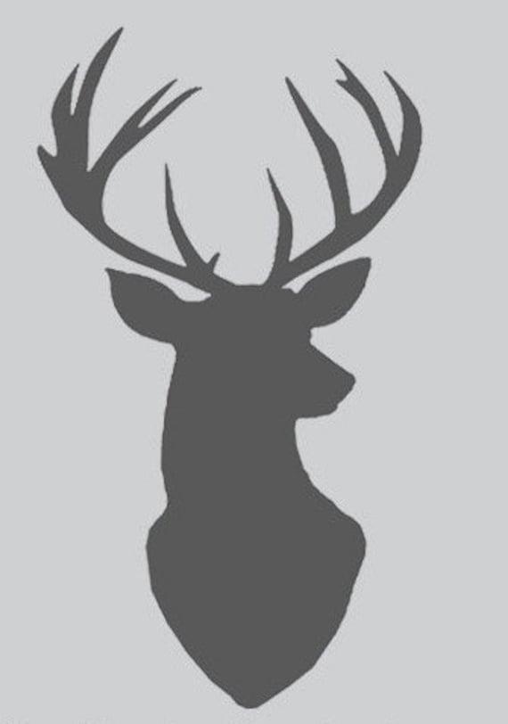 Deer Stencil Nordic Scandinavian Template Card Making Plaque