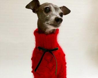 6ff02b7b75a0 Pet apparel;handmade knitwear-Retro angora sweater