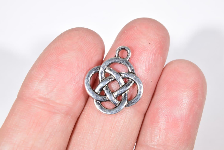 8 Celtic Knot Charms Celtic Knot Pendant Celtic Knot | Etsy