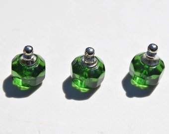 1 Glass Bottle Pendant - Green Miniature  Bottles - Green Glass Bottles - Miniature Bottle Pendants - Bottle Charms - SC248