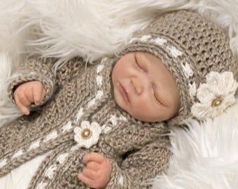 Crochet Pattern, Crochet Baby Hat Pattern, Crochet Hat Pattern with Flower, Easy Crochet Pattern Printable Pdf Files