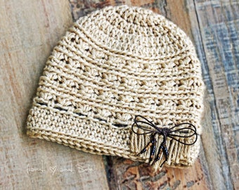 Crochet Pattern, Crochet Hat Pattern for Baby Girl, Baby Hat Pattern, Boho Fringe Hat Pattern, Baby Girl Hat Pattern