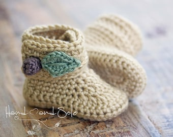 Crochet Pattern, Crochet Booties Pattern, Crochet Baby Shoes Pattern, Baby Booties Pattern, Crochet Shoes Pattern for Baby Girl