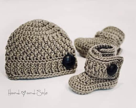 39a3b8265c7 Crochet Hat Pattern and Crochet Booties Pattern Crochet Baby