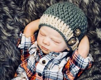 Crochet Pattern, Crochet Baby Hat Pattern, Baby Hat Crochet Pattern, Crochet Hat Pattern, Crochet Baby Bot Hat Pattern