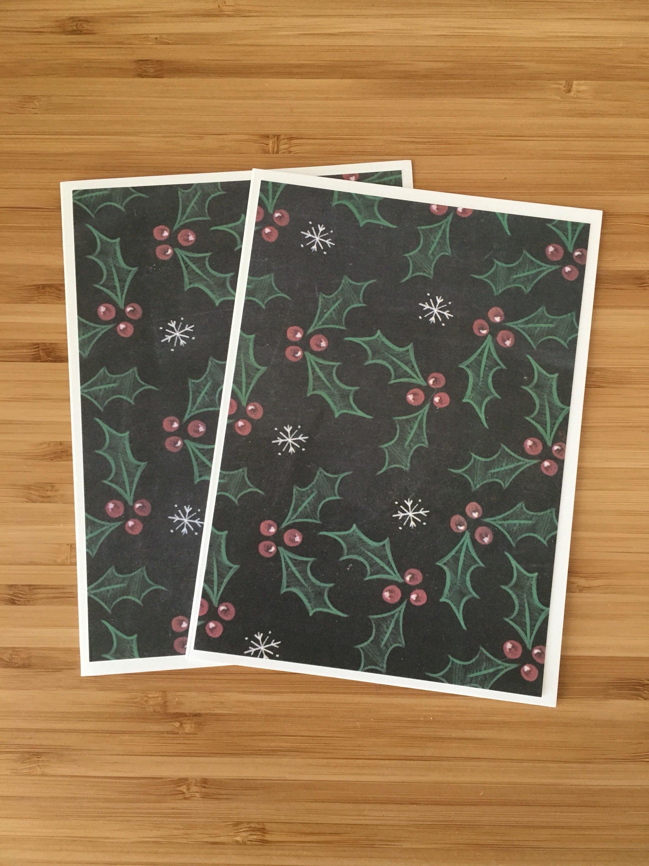 5 Christmas Cards Handmade Set Christmas Greeting Card Blank Etsy