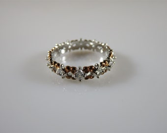 Michael Valitutti Sterling Silver 925 NH White Topaz Band Size 6.5