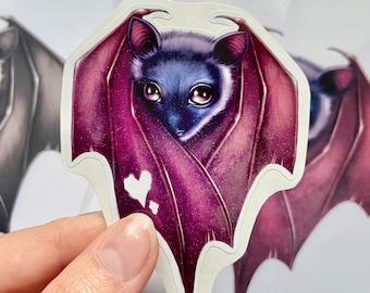 Heart Shaped Bat  - Vinyl Decal Sticker
