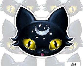 Cute Little Pet Cat Kitten Fun Window Bumper Sticker Vinyl Decal 12.4CM x 15.2CM