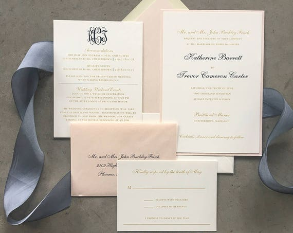 Manor wedding invitation suite