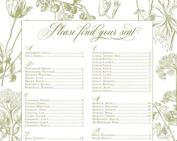 Custom Seating Chart