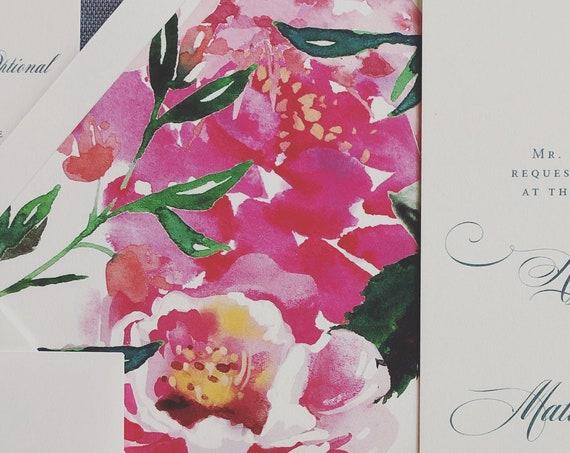 Bright Pink Peonies Envelope Liners