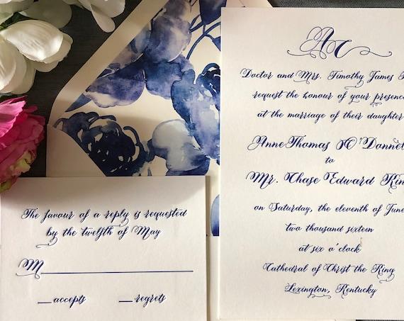 Cobalt Calligraphy