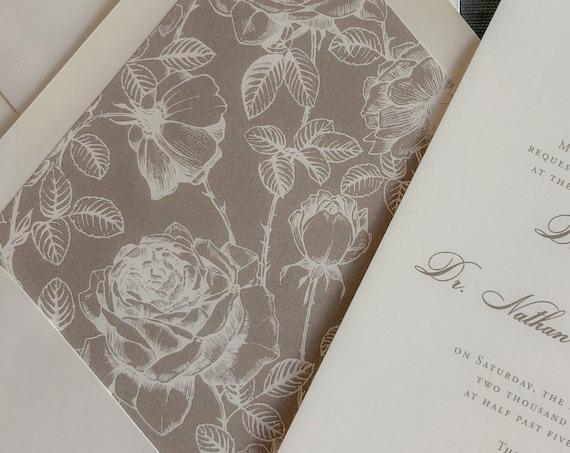 Neutral Floral Envelope Liners