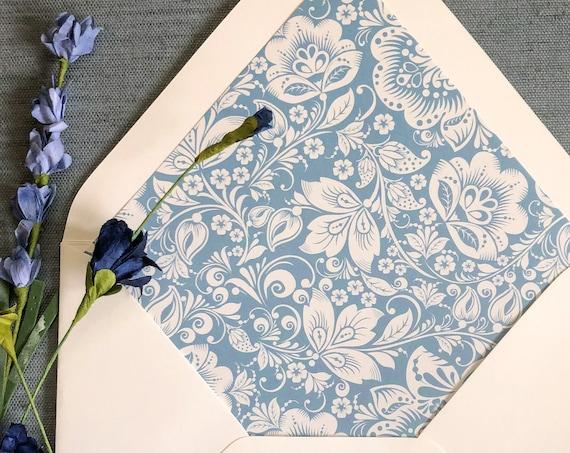Floral Lace Envelope Liners