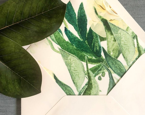 Majestic Greenery Envelope Liners