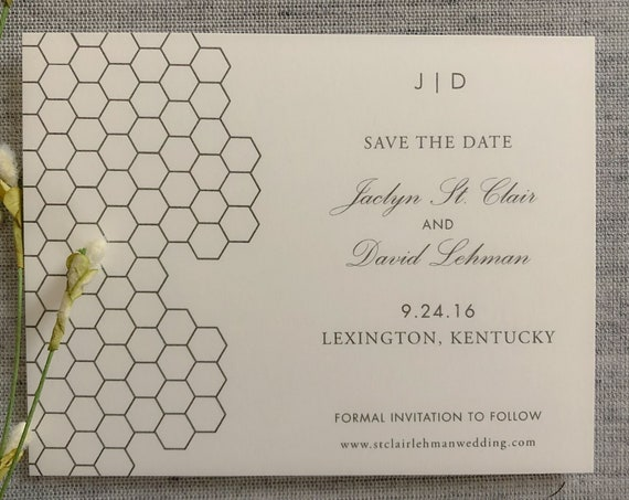Honeycomb Save the Date Cards