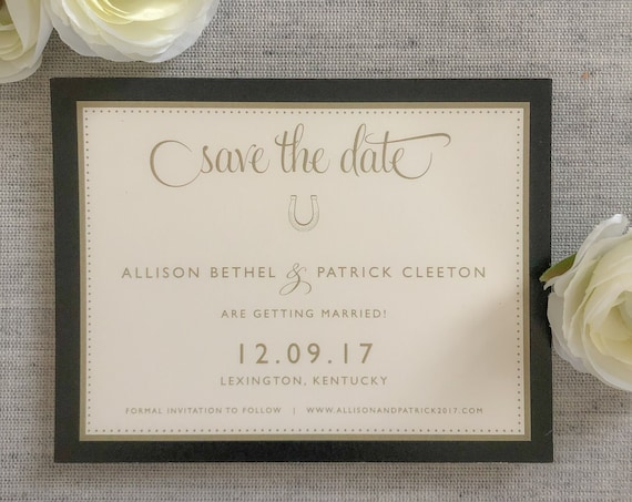 Bluegrass Charm Save the Date Cards
