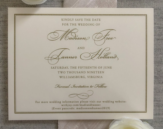 Classic Frame Save the Date Cards