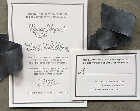 Flourish and Frame Letterpress Sample