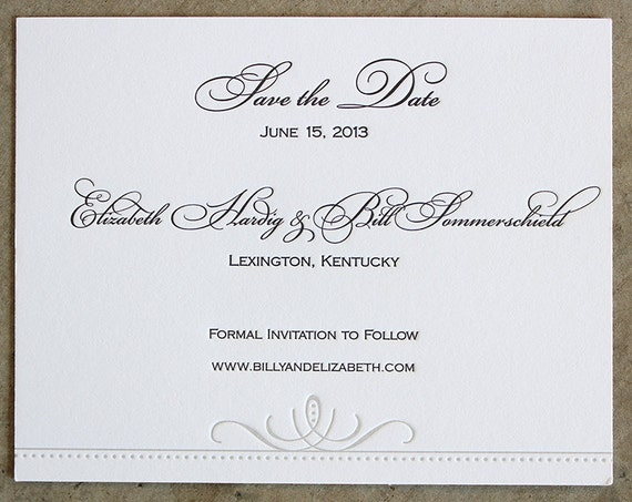 Opulent Letterpress Save the Date Cards