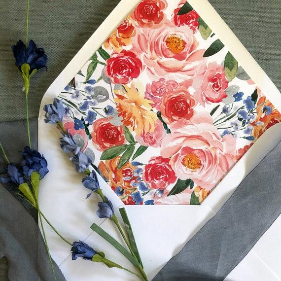 Victorian Garden Envelope Liners